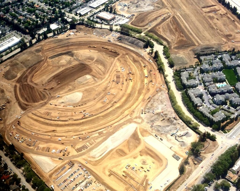 Apple's Spaceship Campus Takes Shape