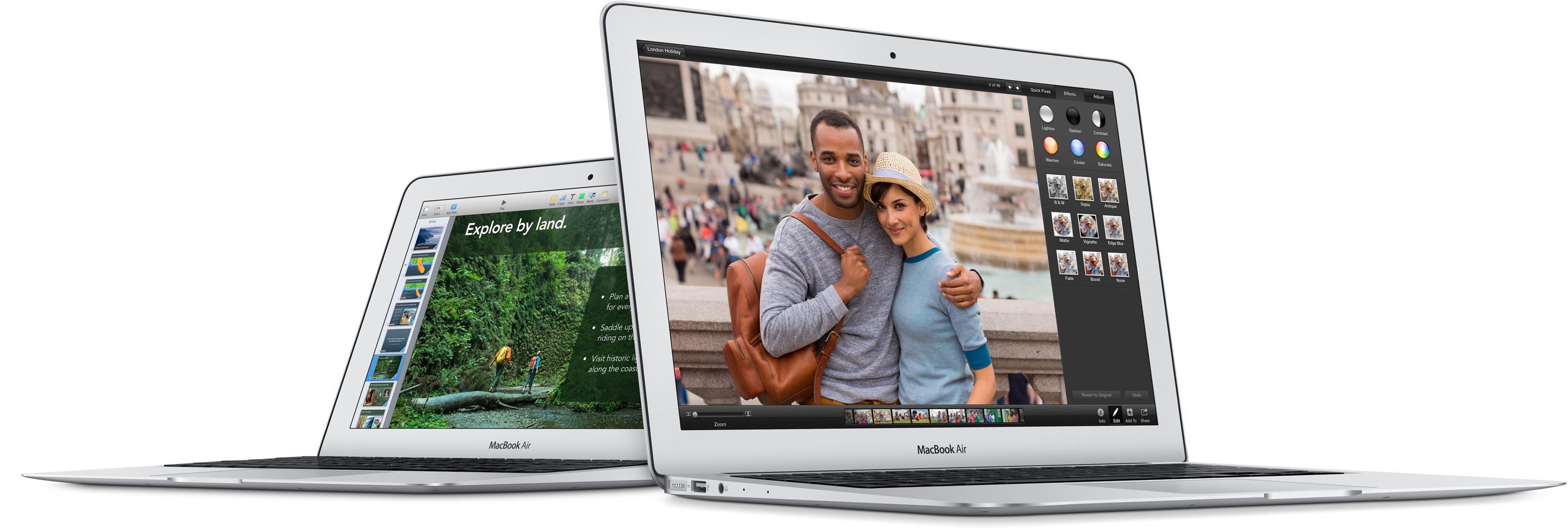 The Latest MacBook Air Flies In